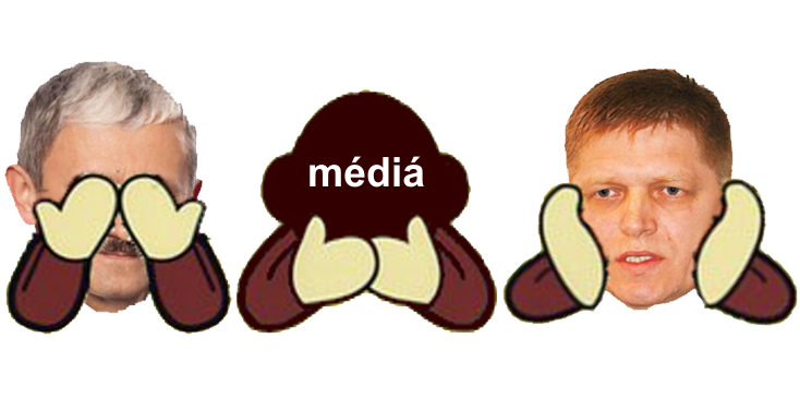 media, ako prava ruka goril!